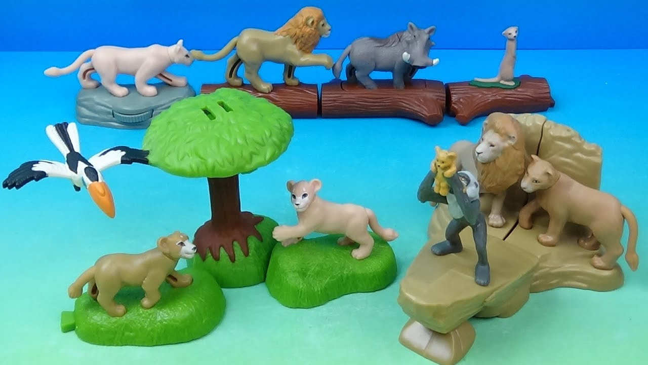 2019 Disney S The Lion King Set Of 10 Mcdonalds Happy Meal Movie Toys Video Review Youtube