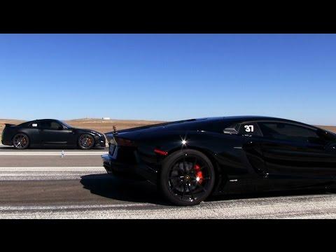 Lamborghini aventador vs gtr