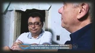 Marcelo Rezende se emociona ao visitar casa em que morou na infância