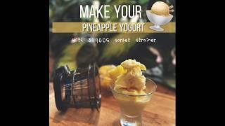 Pineapple Yogurt Sorbet by Kuv…
