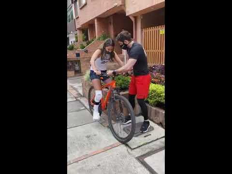Daniella Álvarez volvió a montar en bicicleta