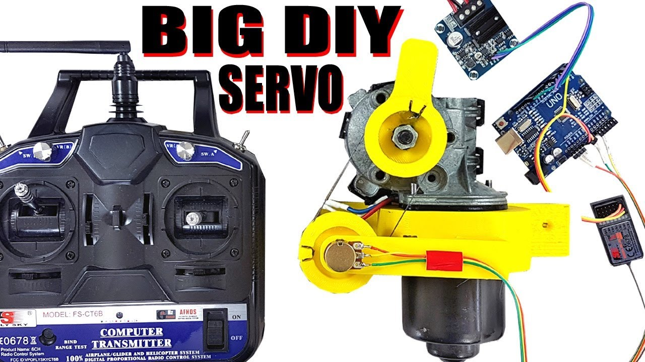 How to Make an R/C Servo from a Wiper Motor | James Bruton