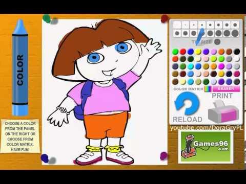 Dora Poznaje Swiat Kolorowanka Gra 2014 Youtube