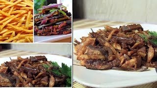 How to make brinjal curry with Potato chips srilankan style