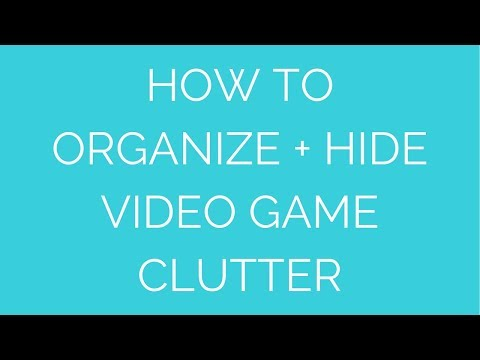 How to Organize Video Games with Decorative Storage