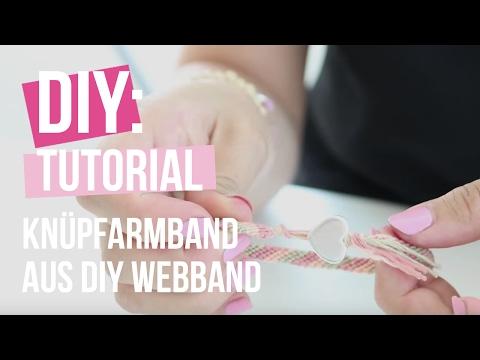 DIY TUTORIAL: Knüpfarmband aus DIY Webband – Selbst Schmuck machen