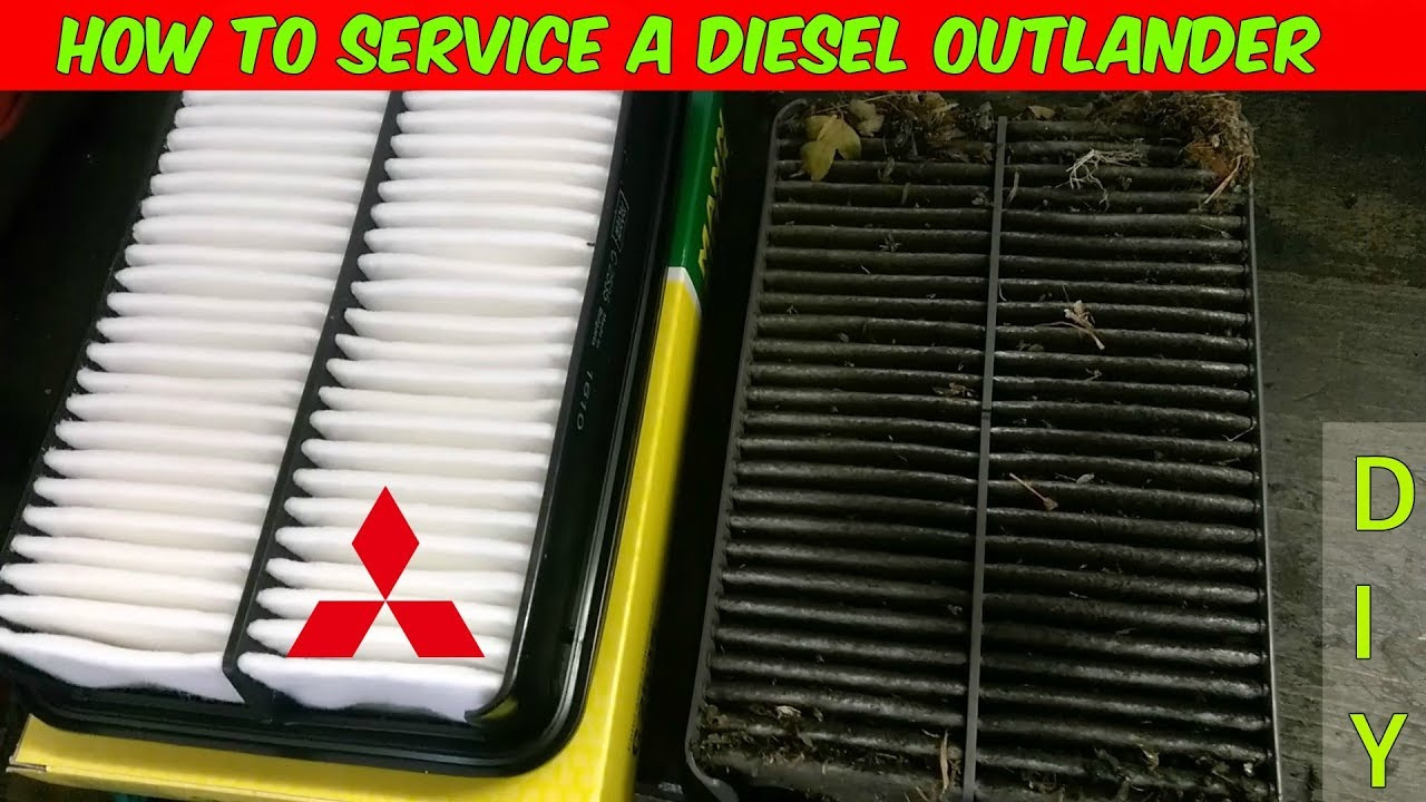 how to replace the oil, air & fuel filters in a mitsubishi outlander 2 2  di-d