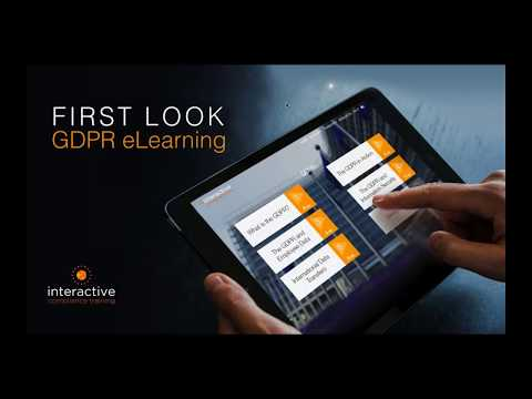 GDPR Training Launch - Interactive Compliance Training