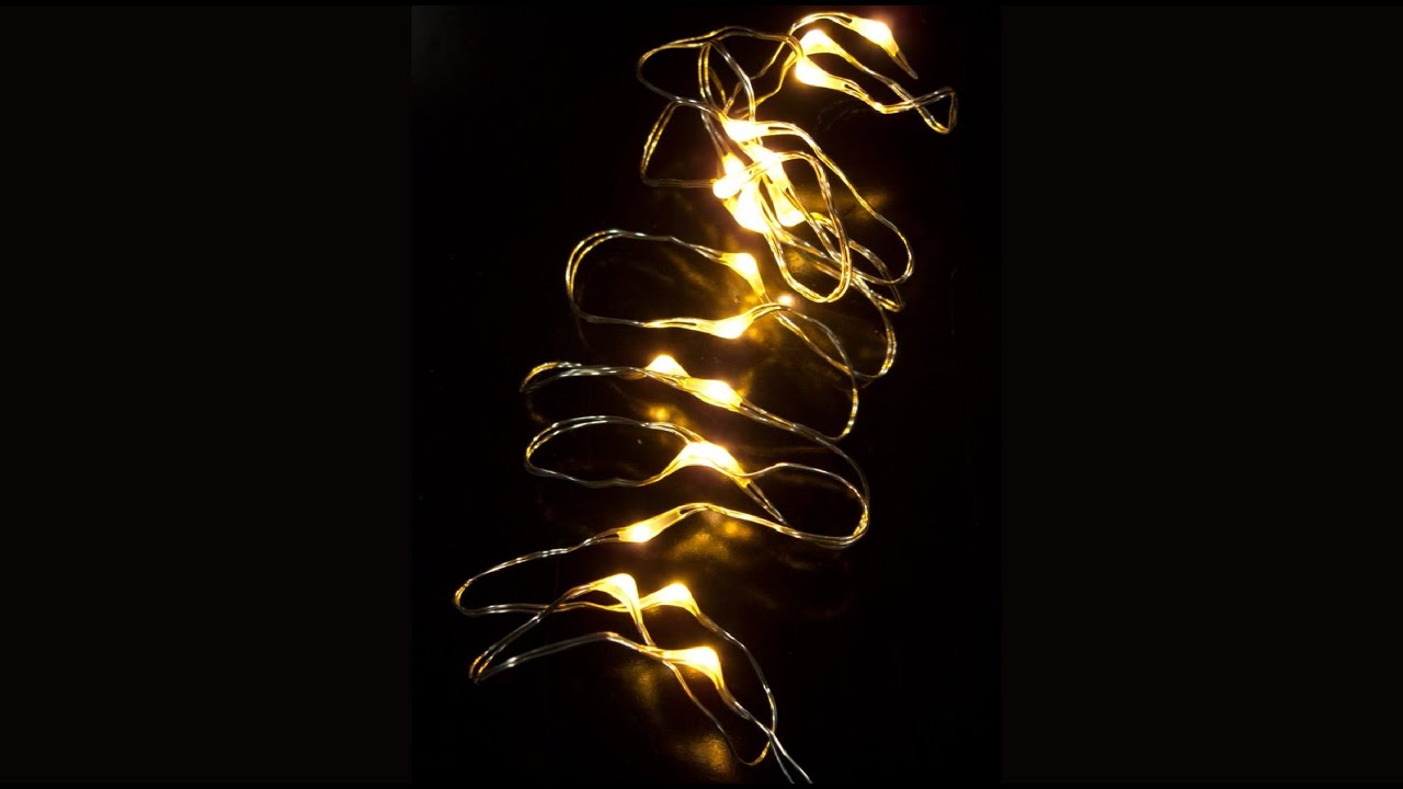 Led String Lights Stopped Working : 20 Warm White Micro LED Battery String Light - 1m - YouTube
