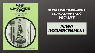 Sergei Rachmaninoff (arr. Teal) – Vocalise (Piano Accompaniment)