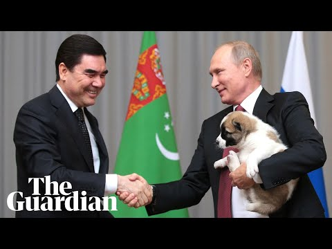 Putin's all smiles to get a puppy as birthday present