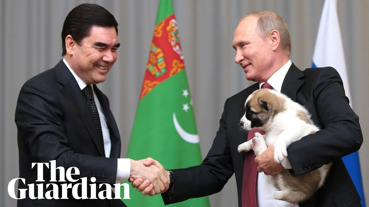Putin S All Smiles To Get A Puppy As Birthday Present Youtube