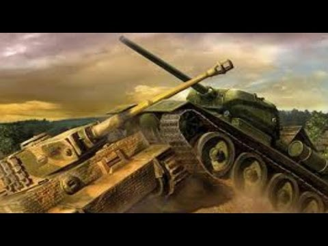 Бой Т-34 против Тигра (Таран) Батальная сцена.