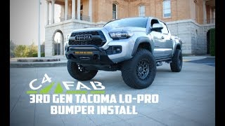 C4 FAB 3rd Gen Tacoma Lo-Pro winch bumper install instructions