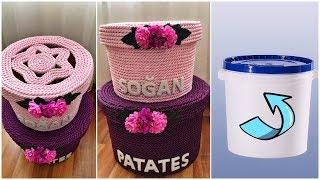 PLASTİK KOVADAN PATATESLİK SOĞANLIK YAPIMI / GERİ DÖNÜŞÜM // HOW TO RECYCLE PLASTIC BOX