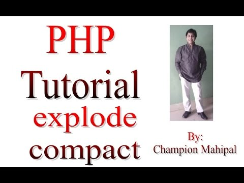 Learn PHP Tutorial 19 explode function and compact function