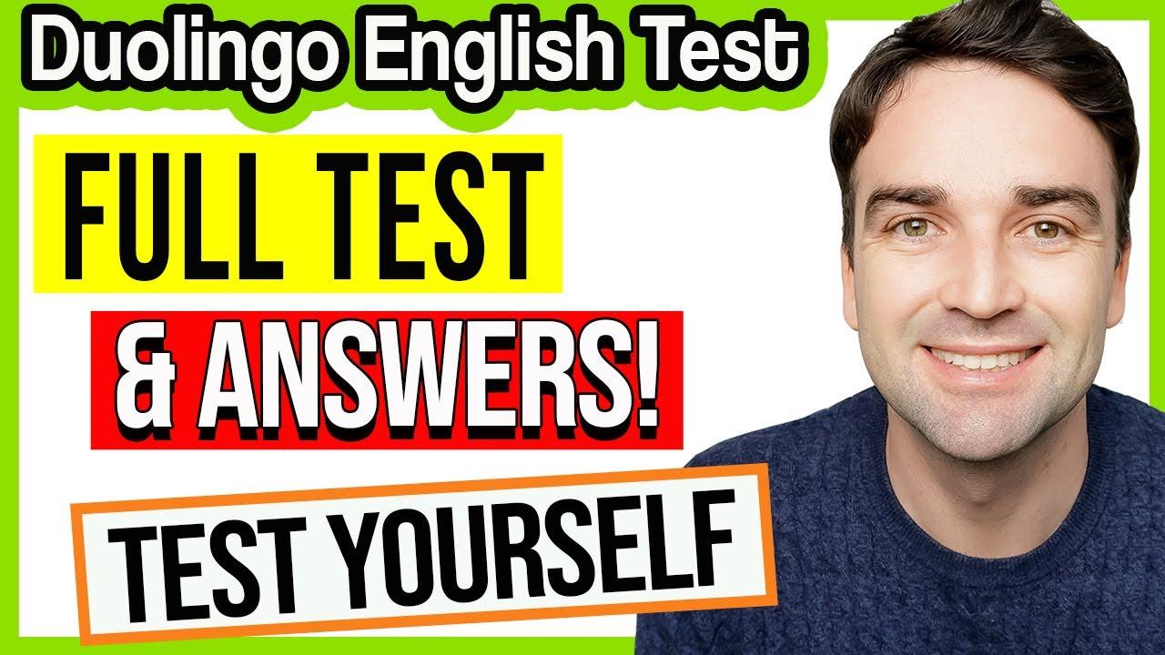Duolingo English Test - FULL TEST & ANSWERS #1