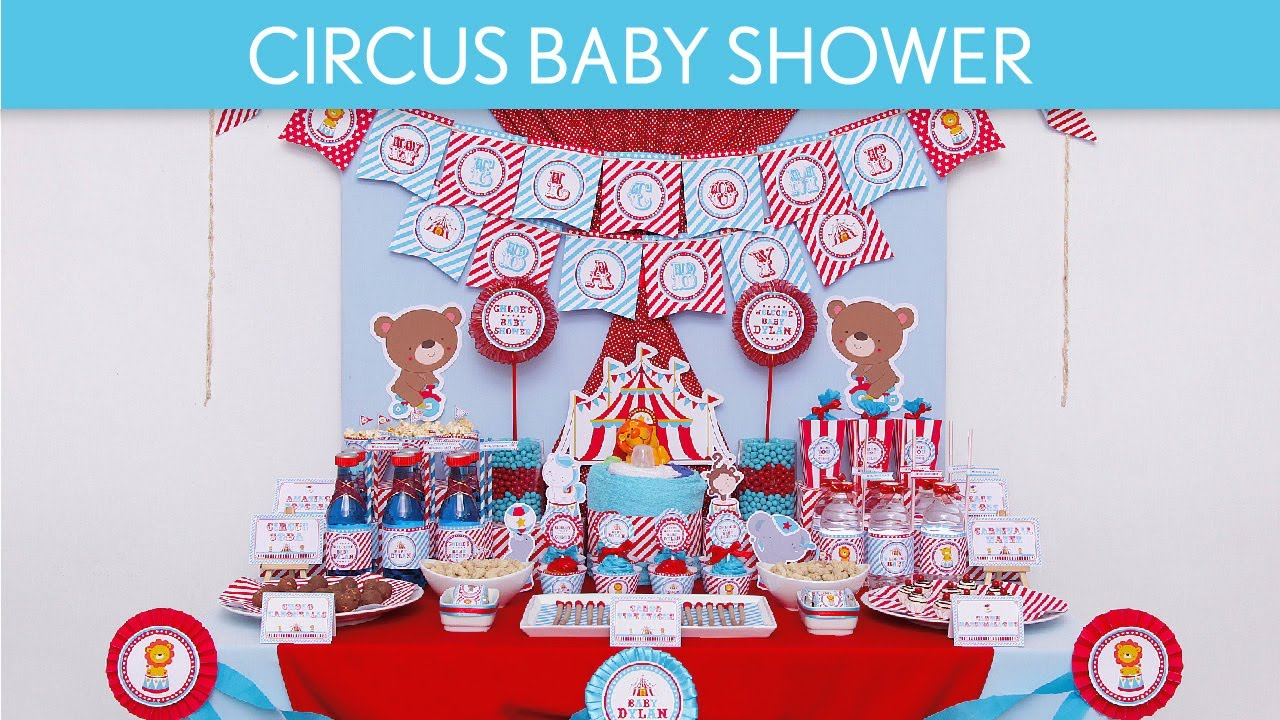 Carnival themed baby shower ideas