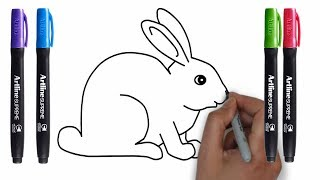 how to draw rabbits quickly and easily, drawing rabbits Step by Step | Drawing Lesson