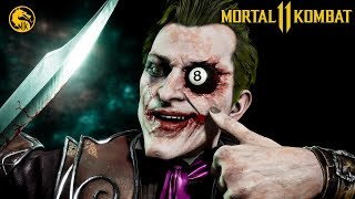 MORTAL KOMBAT 11 Joker Gameplay Fatalities, Brutalities, Skins, Intro, Outro, Ending