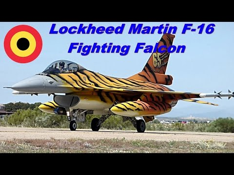 Lockheed Martin F-16 Belga. Full-HD.
