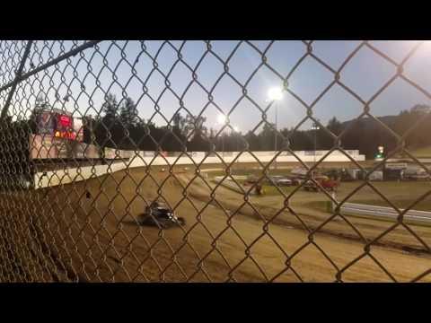 Ashley Thompson's Ford Focus Midget B-Mains Dirt Cup at Skagit Speedway  6/23/17