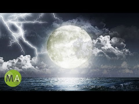 8-Hour Sleep Music, Ambient Thunderstorm, 3D Rocking Effect, Calming Sleep Meditation Music, ☾1001