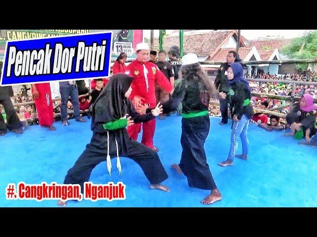 Pencak Dor Putri (Srikandi PN) --- Spotif & Fair Play -- Cangkringan Nganjuk (tradisi sejak 1960)