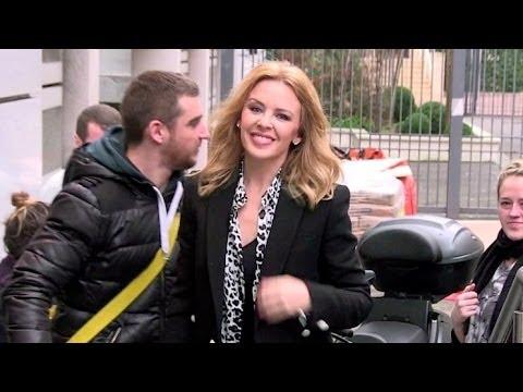 Kylie Minogue at NRJ radio station in Paris