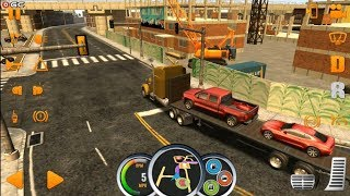 """Truck Simulator USA """"Yellow Big Truck"""" - MAP Nashville Cargo Vehicles - Android Gameplay FHD #3"""