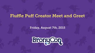 Fluffle Puff Creator Meet and Greet