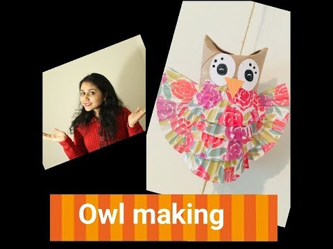 Owl Making Using Toilet Paper Tube | DIY | Easy To Make