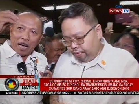 SONA: Supporters ni Atty. Chong, kinompronta ang mga taga-COMELEC