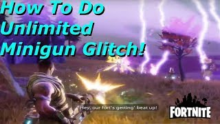 Fortnite - How To Do Unlimited Minigun Glitch With Soldier Class MOST OP GLITCH IN THE GAME!!