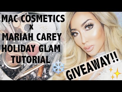 MAC x MARIAH CAREY - HOLIDAY GLAM TUTORIAL + GIVEAWAY! | Arika Sato