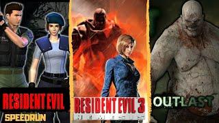 Outlast 1-Gameplay Y Resident Evil 1 y 3 en Speedrun Any% - En Español