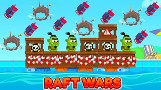 RAFT WARS MULTIPLAYER - I WIN USING ONLY DYNAMITE (TNT) - ONLINE BATTLE (HD)