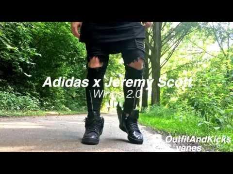 Adidas x Jeremy Scott Wings 2.0 - On Feet - YouTube 73c6439c7