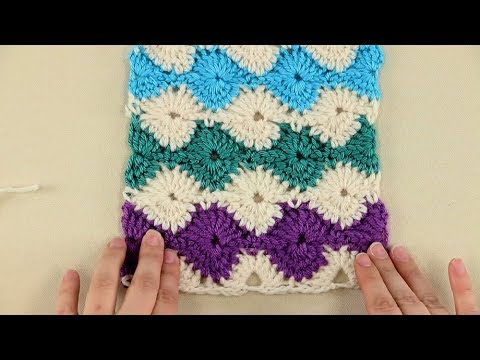 Catherine Wheel Crochet Stitch Tutorial Youtube