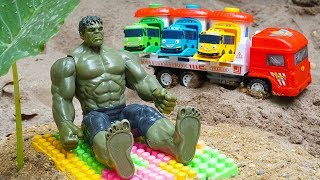 Hulk Man Toys Rescues Tayo the Little Bus & Transport Truck from Crocodile | Kids and Toys