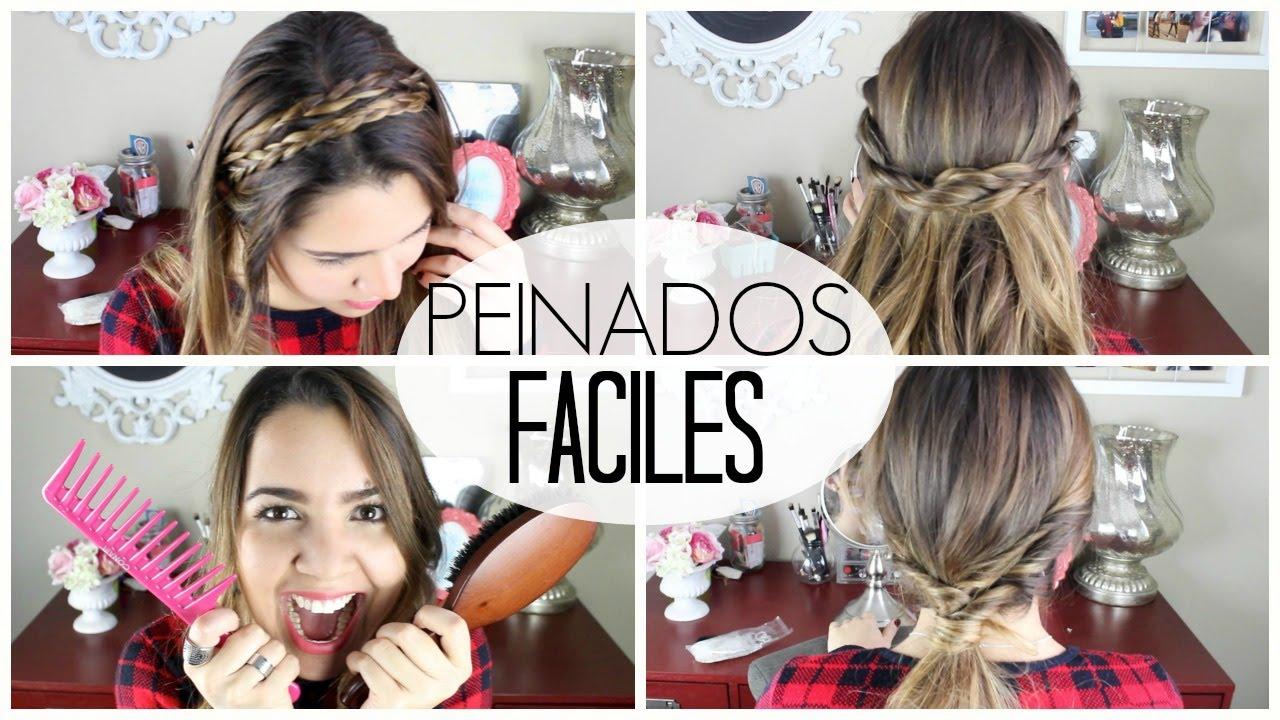 4 peinados faciles y bonitos para esta temporada youtube - Peinados faciles y bonitos ...