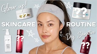 My Nighttime Korean Skincare Routine for Glowy Skin ft. my dry, sensitive skin