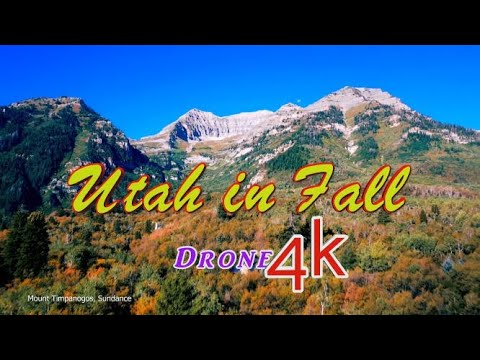 Stunning drone footage of Utah canyons in autumn