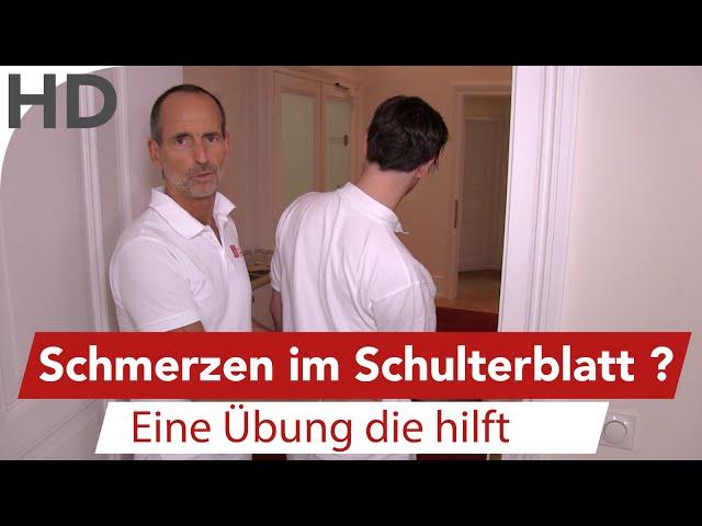 Schulterblatt Schmerzen - Übung vom Schmerzspezialisten Roland Liebscher-Bracht
