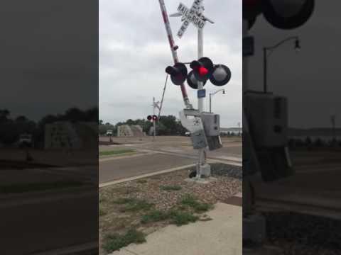 BNSF Mixed Freight Train In Mobridge South Dakota