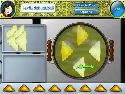 เกมส์ทำอาหารจีน เกี๊ยวปูทอดกรอบ chinese food Crab Rangoon Cooking games