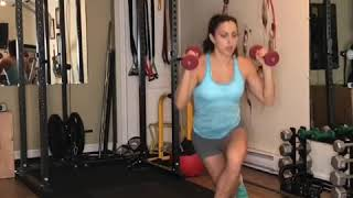 Curtesy lunge and overhead press