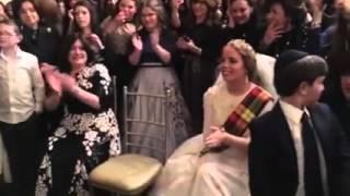 Bagpipes at Jewish Wedding
