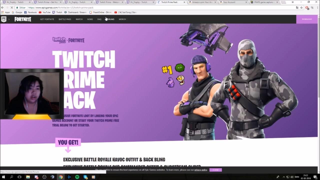 [DK] GUIDE : Sådan får du Twitch Prime Fortnite skins ( også hvordan man afmelde sit twitch prime)