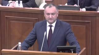 Додон разнес в пух и прах власть с трибуны парламента